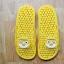 K016-YL **พร้อมส่ง** (ปลีก+ส่ง) รองเท้านวดสปา เพื่อสุขภาพ ปุ่มเล็ก ลายโพโรโร่ สีเหลือง thumbnail 1