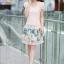 ชุดเดรสเกาหลี Brand Ai Fei ชุดเดรสสั้น ตัวเสื้อผ้าถักลายผีเสื้อ สีชมพูโอรส กระโปรงผ้าชีฟองลายดอกไม้ และผีเสื้อ สวยมากๆครับ (พร้อมส่ง) thumbnail 2