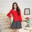แฟชั่นเกาหลี set เสื้อสูท สีแดง และกระโปรง สวยมากๆ thumbnail 9
