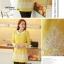ชุดเดรสสั้น Brand Bluearly แท้ 100% ชุดเดรสออกงาน ชุดเดรสทำงาน สีเหลือง ผ้าฝ้ายอย่างดี คอปก แขนยาว thumbnail 4