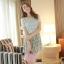 ชุดเดรส ชุดเดรสสั้นแฟชั่นเกาหลีน่ารัก แนวหวาน สีเขียว เสื้อลูกไม้คอกลม แขนสั้น กระโปรงลายดอกไม้อัดพลีท ใส่เที่ยวน่ารัก สวยมากๆครับ (พร้อมส่ง) thumbnail 4