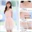 ชุดเดรสสวยๆ ผ้าชีฟองเนื้อดี แขนสั้น สีชมพูโอรส thumbnail 5