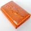 กระเป๋าสตางค์อัดลายหัวจรเข้ รูปทรงยาว เป็นแบบ Mini Clutch Wallet thumbnail 2