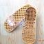 K011-BR2 **พร้อมส่ง** (ปลีก+ส่ง) รองเท้านวดสปา เพื่อสุขภาพ ปุ่มเล็ก ลายลิง สีน้ำตาล thumbnail 4