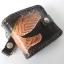 กระเป๋าสตางค์ลวดลายนกอินทรีย์กางปีก 2 พับ พร้อมโซ่ Line id : 0853457150 thumbnail 3
