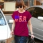 เสื้อแฟชั่น ผ้า spandex (ITY) รหัส DD31 (แขนเบิ้ล) สีแดง thumbnail 1