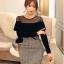 เสื้อผ้าแฟชั่นเกาหลี Set 2 ชิ้น ( เสื้อและกระโปรง) thumbnail 2