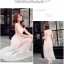 ชุดเดรสชีฟอง สีชมพู แขนกุด แฟชั่นเกาหลีมาใหม่ สวยมากๆ thumbnail 5