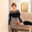 เสื้อผ้าแฟชั่นเกาหลี Set 2 ชิ้น ( เสื้อและกระโปรง) thumbnail 7