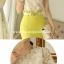 เสื้อทำงาน แฟชั่นเกาหลี ผ้าลูกไม้สุดหรู ลายดอกไม้สีเหลือบทอง คอเสื้อแต่งด้วยมุก และหมุดสีทอง พร้อมส่ง thumbnail 4