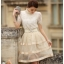 เสื้อผ้าลูกไม้ แฟชั่นเกาหลี เนื้อนิ่ม ยืดหยุ่นได้สีขาว คอเสื้อแต่งด้วยมุกและคริสตรัลใส่ สวยมากๆ เลยครับ พร้อมส่ง thumbnail 3