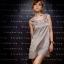 DRESS ชุดเดรสแฟชั่น ใส่ทำงาน ใส่เที่ยว ผ้าซาติน สีเทาอมเขียว สม็อคอกด้านหลัง น่ารัก สามารถใส่ออกงานได้ สวยมากๆ จ้า thaishoponline (พร้อมส่ง) thumbnail 1