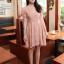 ชุดเดรสสั้น แฟชั่นเกาหลี ใส่ออกงานได้ สีชมพู ผ้าชีฟอง แขนตุ๊กตา โชว์หลัง กระโปรงบาน เป็นชุดเดรสแบบปล่อย สวยน่ารัก ๆ (พร้อมส่ง) thumbnail 2