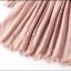 ชุดเดรสลูกไม้ สีชมพูกะปิ เข้ารูปช่วงเอว กระโปรงทรงเอ รอบคอเสื้อเป็นผ้าถักโครเชต์ thumbnail 6