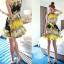 CHU VIVI DRESS ชุดเดรส แฟชั่นเกาหลี แขนกุด ใส่ทำงาน ผ้าชีฟอง ลายดอกไม้ สีเหลือง น้ำเงิน ขาว อัดพลีททั้งชุด แนววินเทจ ใส่ไปงานแต่งงาน พร้อมเชือกผูกเอว สามารถใส่ออกงานได้ สวยมากๆ thumbnail 2