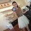 DRESS ชุดเดรสแฟชั่นใส่ทำงาน แขนกุด สีน้ำตาล สีครีม ผ้าคอตตอน + ผ้ากอซ กระดุมหน้า น่ารัก thaishoponline (พร้อมส่ง) thumbnail 1