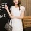 ชุดเดรสชีฟองเกาหลี ชนิดเนื้อทราย สีขาว สวยมากๆ thumbnail 3