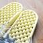 K011-YL **พร้อมส่ง** (ปลีก+ส่ง) รองเท้านวดสปา เพื่อสุขภาพ ปุ่มเล็ก ลายโตโรโร่ สีเหลืองอ่อน thumbnail 5