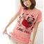 เสื้อยืดแฟชั่น ผ้านุ่ม ลาย Cool Dog (Size M:36 นิ้ว) สีโอรส thumbnail 1