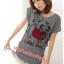 เสื้อยืดแฟชั่น ผ้านุ่ม ลาย Cool Dog (Size M:36 นิ้ว) สีเทา thumbnail 1