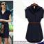 [พร้อมส่ง]สไตล์ยุโรป 2014 แฟร์ชั่นฤดูร้อนใหม่เสื้อผู้หญิงขนาดใหญ่ในชุดชีฟองยุโรปและอเมริกา แขนสั้นพร้อมเข็มขัด thumbnail 3