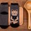 [เซต2คู่] ลายใหม่ถุงเท้าลายแมวนั่งสมาธิ เก๋ๆ เซตคู่สีเทาและกรมท่า thumbnail 4