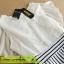 ชุดเดรส DOWISI เดรสตัวเสื้อผ้าซีฟอง สีขาว แขนปีกกว้างคอกลม ต่อด้วยกระโปรง ผ้าค๊อตตอน ลายขวาง สีขาวดำ พร้อมส่ง thumbnail 10