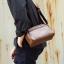 Pre-order กระเป๋าสะพายข้างใบเล็ก ผู้ชาย กันน้ำแฟชั่นเกาหลี รหัส Man-9875 สีกาแฟเข้ม thumbnail 1