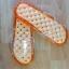 K015-OR**พร้อมส่ง** (ปลีก+ส่ง) รองเท้านวดสปา เพื่อสุขภาพ ปุ่มใหญ่แบบนิ่ม สีส้ม ถอดพื้นทำความสะอาดได้ ส่งคู่ละ 180 บ. thumbnail 5
