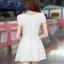 ชุดเดรสทำงาน ชุดเดรสสั้น ผ้าชีฟองเย็มซ้อนเป็นลายผ้าลูกฟูก แฟชั่นเกาหลี สีขาว คอกลม แขนกุด กระโปรงบาน ใส่ทำงานสวยมากๆครับ (พร้อมส่ง) thumbnail 5
