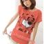 เสื้อยืดแฟชั่น ผ้านุ่ม ลาย Cool Dog (Size M:36 นิ้ว) สีส้ม thumbnail 1