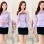 เสื้อผ้าลูกไม้ แฟชั่นเกาหลีมาใหม่ สีม่วง thumbnail 7