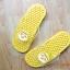 K016-YL **พร้อมส่ง** (ปลีก+ส่ง) รองเท้านวดสปา เพื่อสุขภาพ ปุ่มเล็ก ลายโพโรโร่ สีเหลือง thumbnail 3