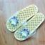 K011-YL **พร้อมส่ง** (ปลีก+ส่ง) รองเท้านวดสปา เพื่อสุขภาพ ปุ่มเล็ก ลายโตโรโร่ สีเหลืองอ่อน thumbnail 2