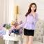 เสื้อผ้าลูกไม้ แฟชั่นเกาหลีมาใหม่ สีม่วง thumbnail 6