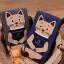 [เซต2คู่] ลายใหม่ถุงเท้าลายแมวนั่งสมาธิ เก๋ๆ เซตคู่สีเทาและกรมท่า thumbnail 2