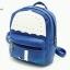 พร้อมส่ง HB-4141 สีน้ำเงิน กระเป๋าเป้นำเข้าหนัง PU นิ่ม เย็บแต่งลายร่มสไตล์เกาหลี thumbnail 1