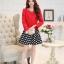 แฟชั่นเกาหลี set เสื้อสูท สีแดง และกระโปรง สวยมากๆ thumbnail 7