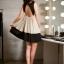 DRESS ชุดเดรสแฟชั่นแขนกุด สีเบจ ดำ เปิดหลัง ใส่เที่ยว ใส่ทำงาน ใส่สบาย น่ารักมากๆ ครับ thaishoponline (พร้อมส่ง) thumbnail 2