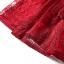 ชุดเดรสลูกไม้ สีชมแดง แขนยาวห้าส่วน เดรสเข้ารูปช่วงเอว กระโปรงทรงเอ thumbnail 10