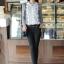 เสื้อทำงาน แฟชั่นเกาหลี ด้านหน้าเป็นผ้าลูกไม้ เสื้อเป็นผ้ามัน คอกลม ประดับพลอยที่คอ ซิปหลังครึ่งตัว เสื้อสีขาว-ดำ สวยมากๆ thumbnail 4