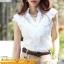 เสื้อเกาหลี style good you เสื้อเชิ๊ตสีขาว คอแหลมแต่งลูกไม้ช่วงบน แต่งระบายลูกไม้ด้านหน้า ติดกระดุมผ่าหน้า สวยเหมือนแบบ พร้อมส่ง thumbnail 7