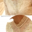 เสื้อทำงาน เสื้อแฟชั่นเกาหลี เสื้อแขนยาวผ้าลูกไม้ เนื้อนิ่มยืดหยุ่นได้ดี สีขาวครีม แต่งด้วยผ้าลูกไม้สีเหลือบทอง พร้อมเข็มขัด (พร้อมส่ง) thumbnail 5