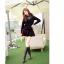 เสื้อไหมพรม ขนฟู สีดำ แขนยาว แฟชั่นเกาหลี คอเสื้อและไหล่แต่งด้วยผ้าลูกไม้ลายดอกไม้ thumbnail 4