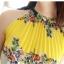 CHU VIVI DRESS ชุดเดรส แฟชั่นเกาหลี แขนกุด ใส่ทำงาน ผ้าชีฟอง ลายดอกไม้ สีเหลือง น้ำเงิน ขาว อัดพลีททั้งชุด แนววินเทจ ใส่ไปงานแต่งงาน พร้อมเชือกผูกเอว สามารถใส่ออกงานได้ สวยมากๆ thumbnail 5