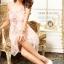DRESS เดรสเกาะอก ผ้าลูกไม้ ใส่ไปงานแต่งงาน กระโปรงผ้ายืดสีชมพูแต่งเงินวิบวับ ทับด้วยผ้ามุ้งชั้นนอก ใส่ออกงานสวยมากครับ thaishoponline (พร้อมส่ง) thumbnail 2