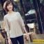 เสื้อยืดแฟชั่น แฟชั่นเกาหลี แขนค้างคาว สีแอพพริคอท ใส่สบาย ใส่เที่ยว ใส่ทำงาน ชิวๆ เสื้อผ้าแฟชั่นราคาถูก thaishoponline (พร้อมส่ง) thumbnail 4