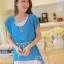 ชุดเดรสสั้น แฟชั่นน่ารัก ชุดเดรสสั้น สีฟ้า เสื้อตัวนอกผ้าชีฟอง ตัวในผ้ายืดเข้ารูปสีขาว เย็บไหล่ติด พร้อมสร้อยและเข็มขัดน่ารักๆ สวยมากๆ ครับ thaishoponline พร้อมส่ง thumbnail 2