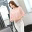 เสื้อผ้าลูกไม้ สีชมพู ชนิดยืดหยุ่นได้ดี ผ้านิ่มมากๆ แขนยาว แขนเสื้อเป็นผ้าชีฟอง thumbnail 5