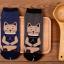 [เซต2คู่] ลายใหม่ถุงเท้าลายแมวนั่งสมาธิ เก๋ๆ เซตคู่สีเทาและกรมท่า thumbnail 3